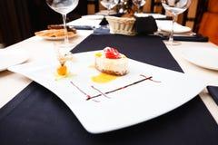 Sea buckthorn cheesecake Royalty Free Stock Photo