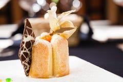 Sea buckthorn cheesecake Stock Image