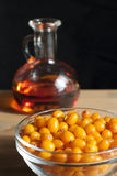 Sea buckthorn oil Stock Photography