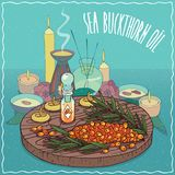 Sea buckthorn oil used for aromatherapy Stock Image
