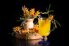 Sea buckthorn tea Stock Photo