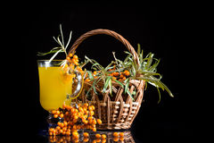 Sea buckthorn tea Stock Images