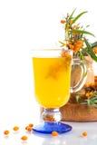 Sea buckthorn tea royalty free stock photos