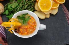 Sea Buckthorn tea Royalty Free Stock Photography