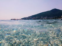 In the sea, Budva, Montenegro Royalty Free Stock Images