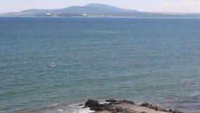 Sea in bulgaria wave bay. Image was shot in Burgas stock video footage