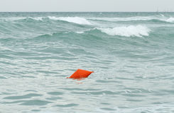 Sea buoy during storm Stock Photos