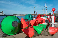 Sea buoys. Royalty Free Stock Photos
