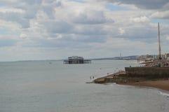 Sea with beach outcrop Stock Photo