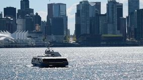 Sea bus comming from Downtown towards Lonsdale Quay , day dime.Ver.2. Sea bus coming from Downtown towards Lonsdale Quay , day dime.nA part of the transportation stock video