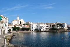 The sea at Cadaques in Catalonia. Cadaques on the Costa Brava coast, Spain Stock Images