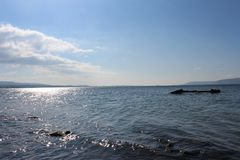 Sea and calm skies Royalty Free Stock Photography