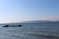 Sea and calm skies. Canakkale throat and Geliboluda sea and calm skies Stock Photo