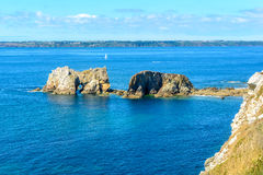 Sea at Camaret-sur-Mer in Brittany, France Royalty Free Stock Photo