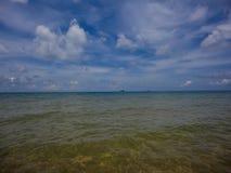 Sea at Cambodia. View at sea at Cambodia royalty free stock photos
