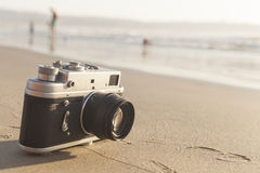 Sea and Camera Royalty Free Stock Photo