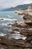 Sea in Camogli stock photography