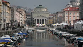 Sea canal in Trieste stock video footage
