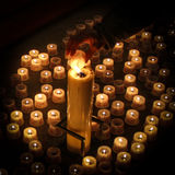 Sea of candles stock image