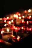Sea of Candles in a Church Stock Images