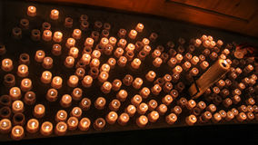 Sea of candles royalty free stock photography
