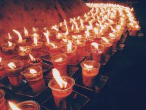 Sea of candles Royalty Free Stock Images