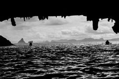 Sea canoeing Royalty Free Stock Images