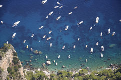 Sea of Capri in Italy Royalty Free Stock Images