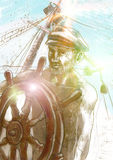 Sea captain Stock Images