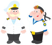 Sea captain and sailor Royalty Free Stock Photos