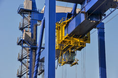 Sea cargo port large cranes Stock Photo