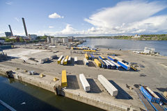 Sea cargo terminal Royalty Free Stock Images