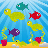 Sea cartoon Royalty Free Stock Photo