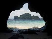 Sea cave Stock Photography