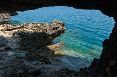 Sea cave Stock Images