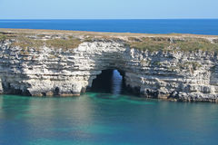 Sea cave Stock Image