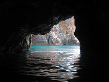 Sea cave. On the Adriatic sea Royalty Free Stock Photography