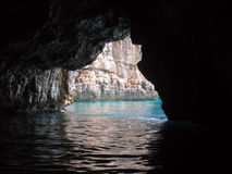 Sea cave. On the Adriatic sea Royalty Free Stock Images