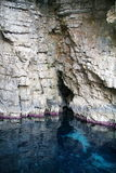 Sea cave on the Ionian Sea Royalty Free Stock Photography