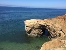 Sea cave. In ocean beach sandiego Stock Photography