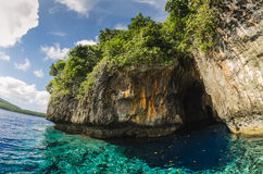 Sea cave in the tropical kingdom of Tonga Stock Images