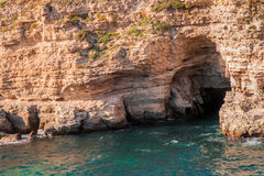 Sea Cave tunnel beautiful view Landscape Royalty Free Stock Image