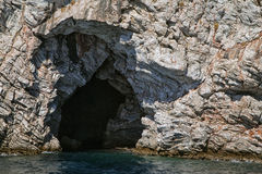 Sea cave in Turkey Stock Photo