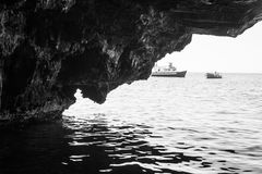 The sea cave Royalty Free Stock Images