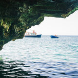 The sea cave Royalty Free Stock Photo