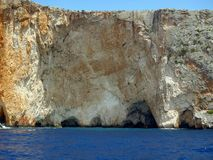 Sea Cave, Zakynthos Stock Photos