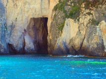 Sea Cave, Zakynthos, Greece Royalty Free Stock Images