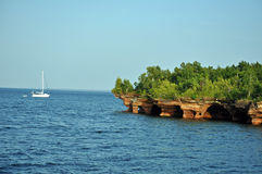 Sea caves in Apostle Island Royalty Free Stock Image