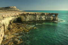 Sea caves of Ayia Napa Royalty Free Stock Photography