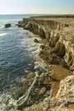 Sea caves of Ayia Napa at the shore Royalty Free Stock Photos